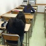 新中1が2人、入塾テストを受けに来ました