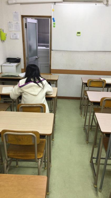 入塾テスト中