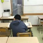 今日も入塾テストを行いました