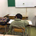 2人の生徒が入塾テストを受けました